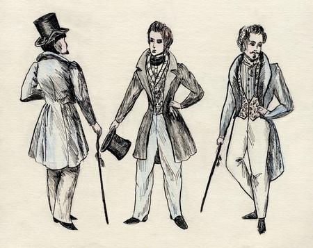 admirer: fancy men 18 century