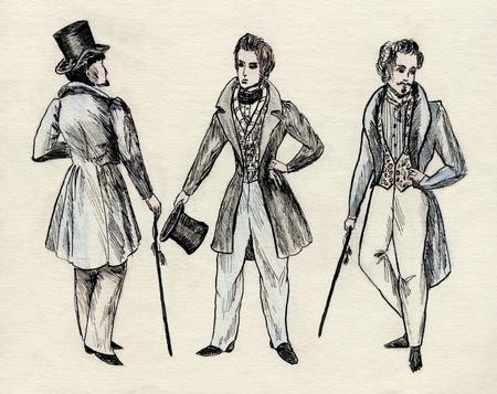 bustle: fancy men 18 century
