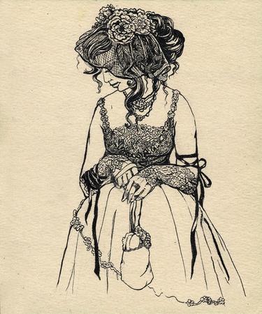 bustle: fancy woman 19 century