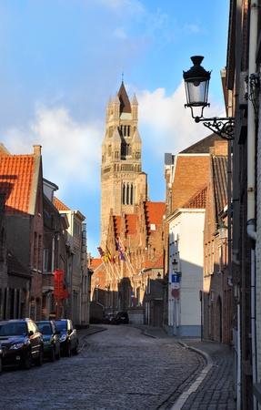 St. Salvador Church Tower, Bruges, Belgium Stock Photo - 12199134