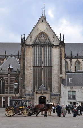 prayer tower:  a cathedral in amsterdam Dam square Editorial
