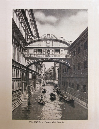 Vintage postcard with Gondola on Canal Grande in Venice (Italy), circa 1910  Stock Photo - 12143581