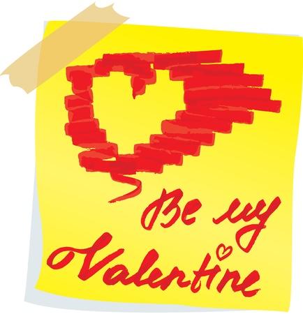 Sketch for Valentine`s Day design Vector