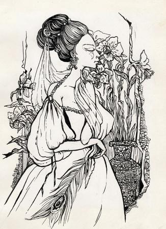 bustle: fancy woman 18 century