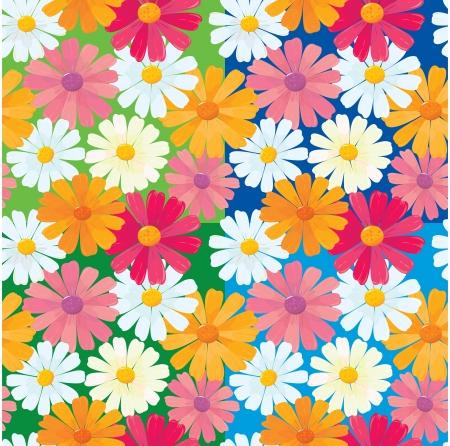seamless textures of ox-eye daisy flowers Stock Vector - 13773540