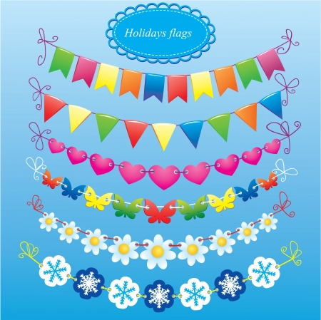 bunting flags: bunting and garland set