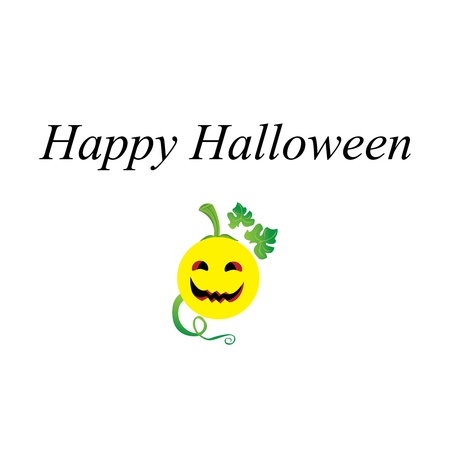 happy halloween: Happy Halloween with Smiley Face Illustration