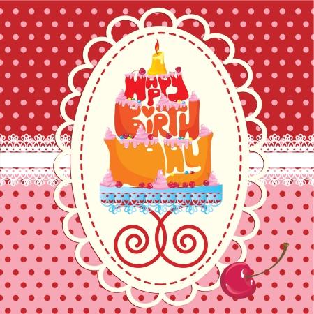 Ciasto założenia z Happy urodziny tekst - Karta