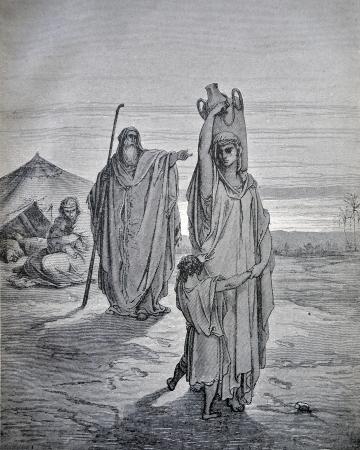 historias de la biblia: RUSSIA - CIRCA 1913: Un grabado impreso en Rusia muestra la imagen