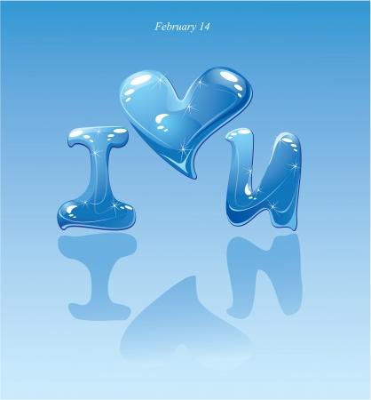 water druppels - hart en zin ik hou van jou
