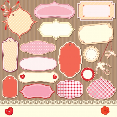 vintage design elements - different labels Vector