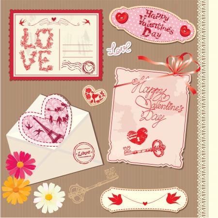 Set of Vintage Valentine