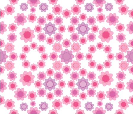 Floral seamless pattern in pink colors Stock Vector - 17594447