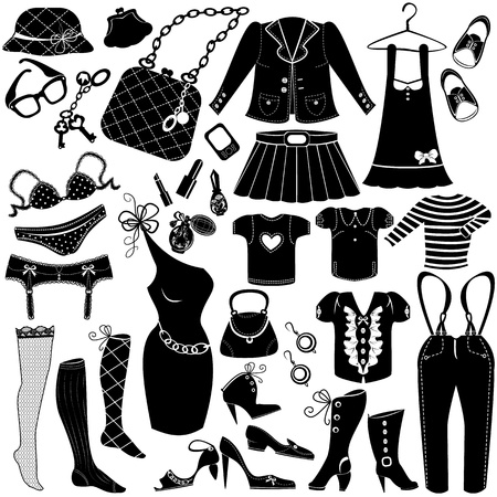 suspenders: Illustration of Woman