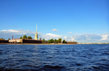 View of Saint Petersburg from Neva river. The Peter and Paul Fortress, St.Petersburg, Russia photo