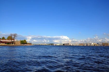 View of Saint Petersburg from Neva river. The Peter and Paul Fortress, St.Petersburg, Russia Stock Photo - 17970787