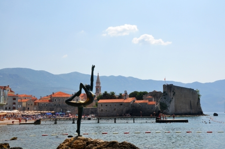 Dancing Girl Statue. Budva, Montenegro.  photo