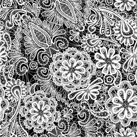 decoration design: Encaje sin patr�n con flores
