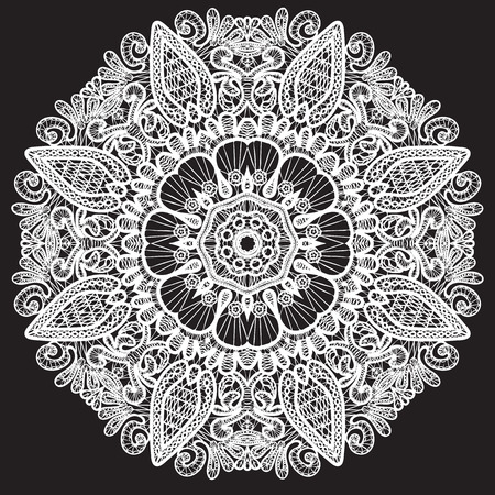 doiley: Abstract circle lace pattern.