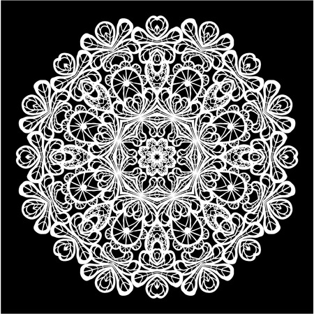 doiley: Abstract circle lace pattern