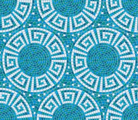 Naadloze mozaïek patroon - Blue keramische tegels - klassieke geometrische ornament