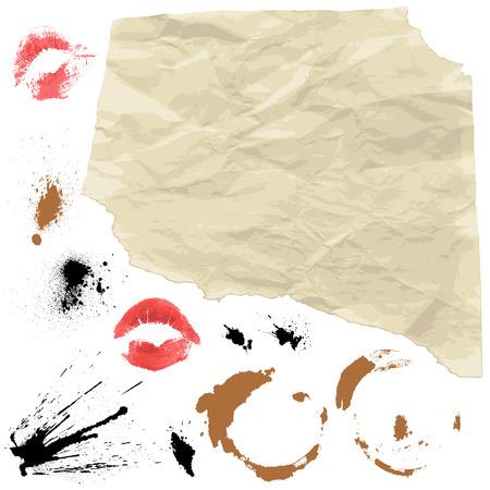 snatch: Piece of Old paper and design grunge elements Illustration