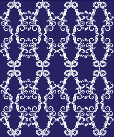 ornamental background: Seamless pattern - damask ornamental background Illustration
