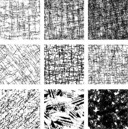 repeat texture: Set of 9 seamless patterns in grunge style. Ready to use as swatch.