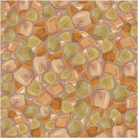 paving: Seamless pattern - Stones Background in brown and green colors. Ready to use as swatch