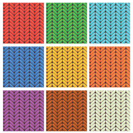 hosiery: Set of 9 knitted wool colorfull seamless patterns