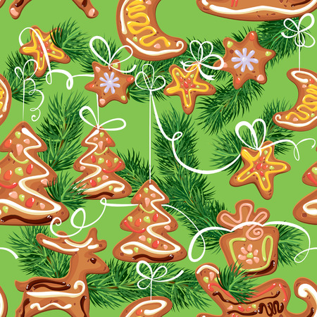 spice cake: seamless christmas pattern