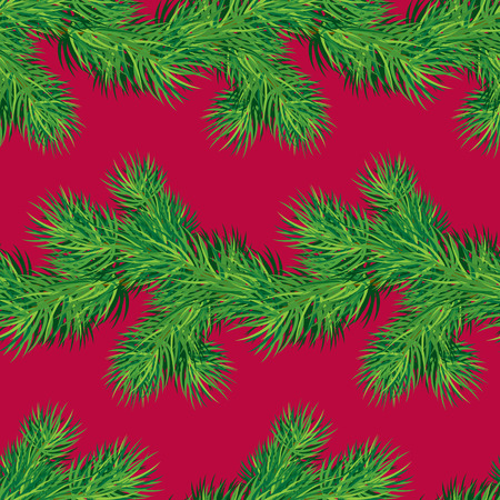 winter holiday: Seamless pattern with Christmas fir tree branch, winter holiday background.