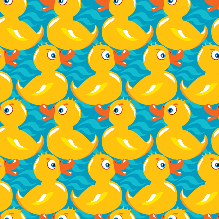 childish: Seamless Pattern with yellow ducks, childish background