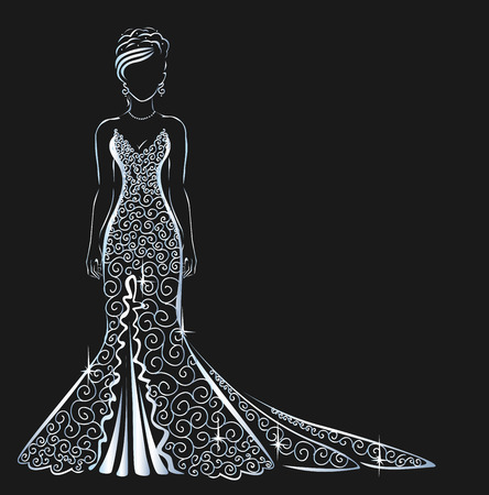 lace dress brilliant Çizim