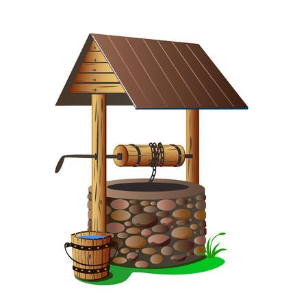 con pozo de agua limpia Ilustración de vector