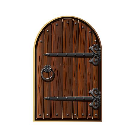 Wooden door. The fabulous vintage door.  イラスト・ベクター素材