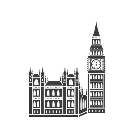 westminster: Westminster Palace and Big Ben Illustration