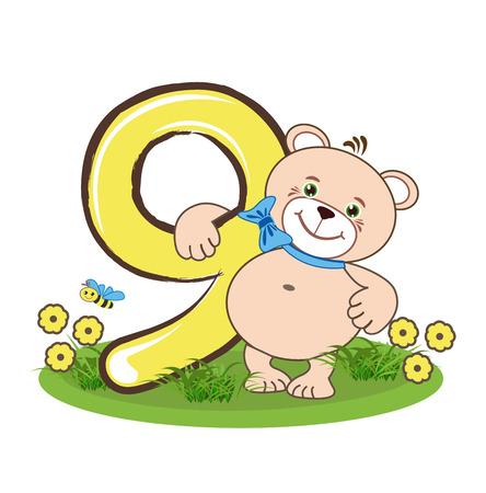 numero nueve: El número nueve y el oso alegre