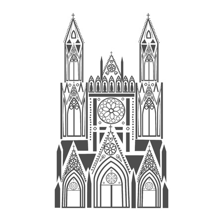 gothic style: Catholic Cathedral in the Gothic style