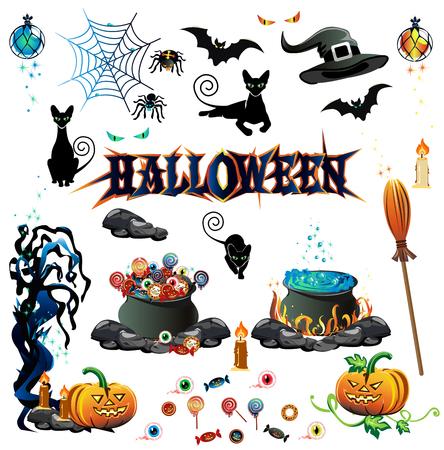 ominous: Halloween color set