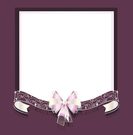 Hochzeit-Rahmen mit durchbrochenen und Satinbänder