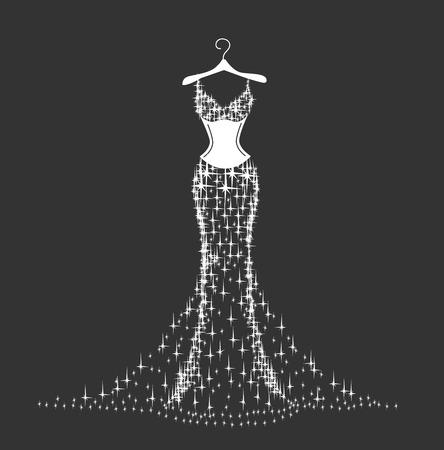 robe de mariée brillante