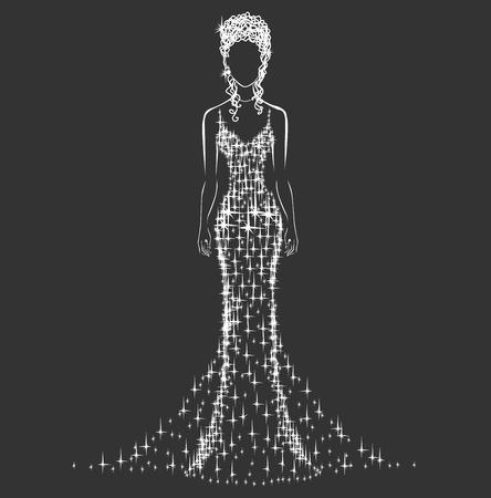 transparent dress: brilliant wedding dress