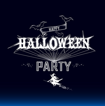 halloween party: Halloween party label