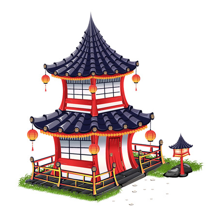 Japanese House With A Roof Tiles