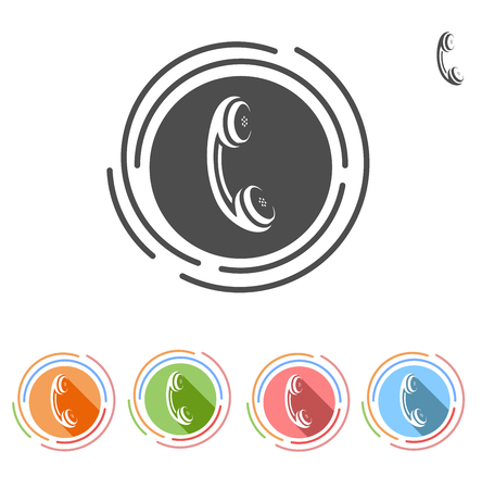 handset: handset Flat Color icon set