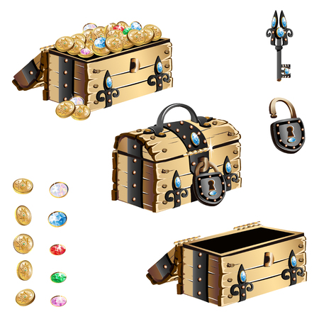 treasure chest with forged decorated