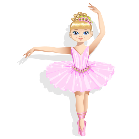 Cute ballerina in a pink tutu