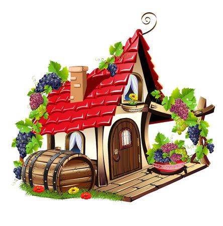 Pequeña casa de hadas Ilustración de vector