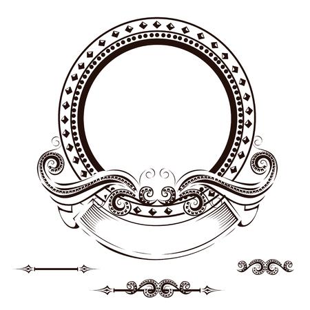Vintage frame with ornament